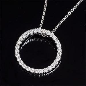 Jewelry - 14K White gold brilliant cut 2.70 ct diamonds Pend